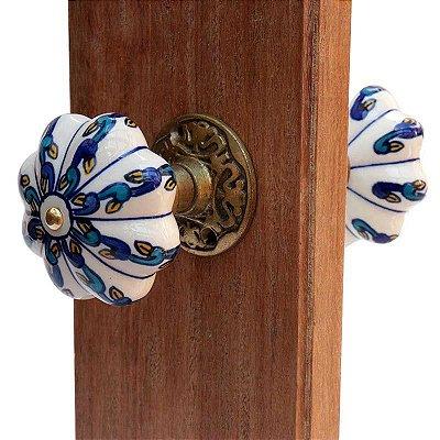 Maçaneta de Porta em Cerâmica e Metal