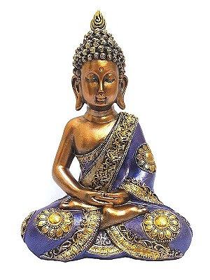 Escultura Buda Orando em Resina 30cm