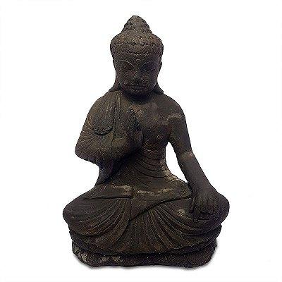 Escultura em Pedra Buda 50cm - Bali