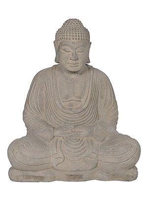 Buda em Pedra p/ Jardim 30/40/50cm