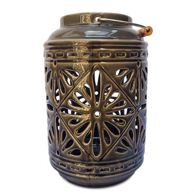Lanterna Rústica em Cerâmica