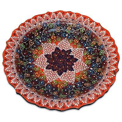 Prato Mandala em Cerâmica 30cm