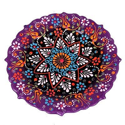 Prato Decorativo Cerâmica 18cm - Turca