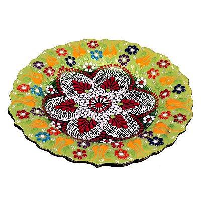 Prato Mandala em Cerâmica Turca 18cm