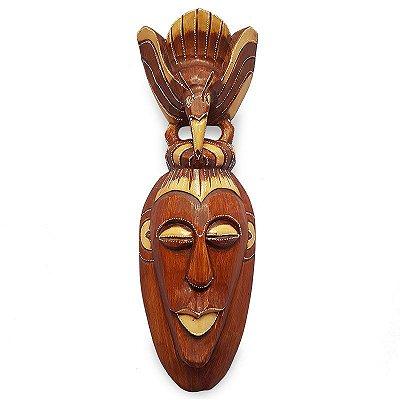 """Máscara Decorativa """"Pássaro"""" 50cm - Bali"""