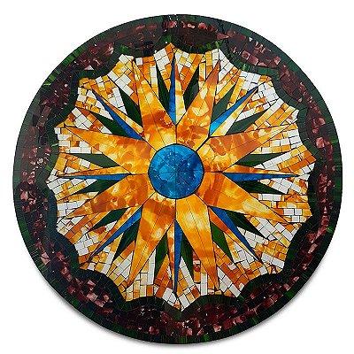 Mandala Colorida em Mosaico de Vidro 60cm - Bali