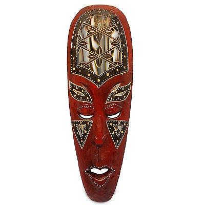 Máscara Decorativa Tribal Flores 50cm
