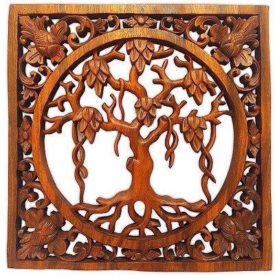 """Painel Árvore """"Anggur"""" 40cm - Bali"""