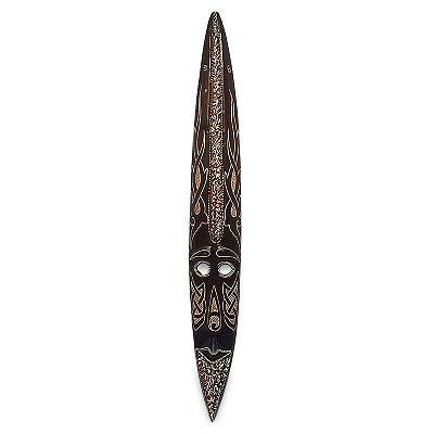 Máscara em Madeira Arte Tribal Bali 100cm