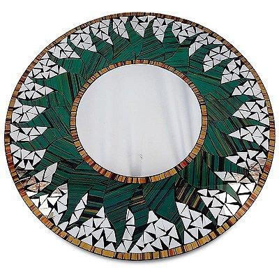 Espelho Redondo c/ Mosaico 60cm - Bali