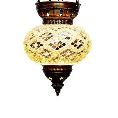 Luminária Turca Mosaico 25cm