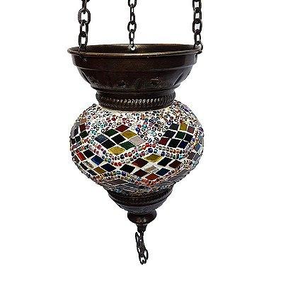 Luminária Turca Mosaico Color 25cm