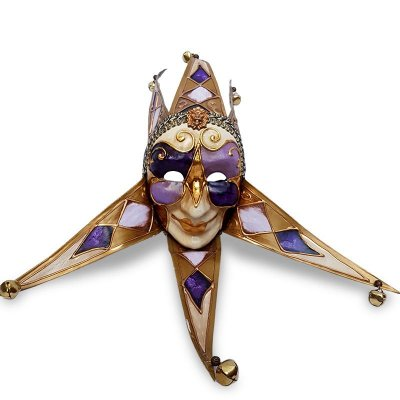 Máscara Veneziana em Papel Mochê