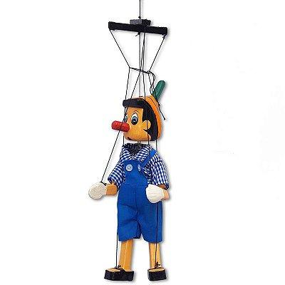 Pinóquio Marionete c/ Roupa 35cm