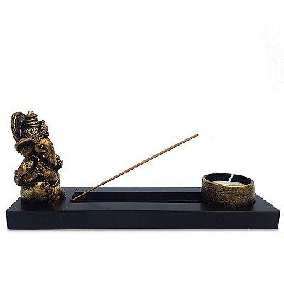 Incensário Ganesh c/ Porta-Vela