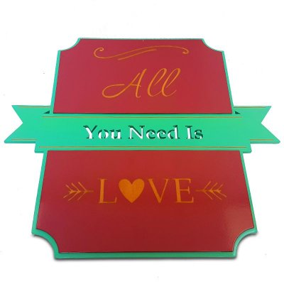 "Placa ""All You Need Is Love"" em Mdf"