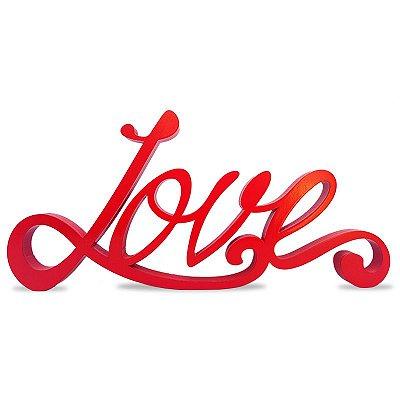 """Palavra Decorativa """"Love"""" em Mdf"""