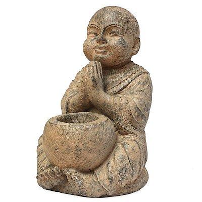 Estátua de Buda em Pedra c/ Bowl