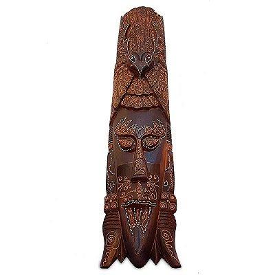 """Máscara Africana """"Homem Pássaro"""" 100cm"""