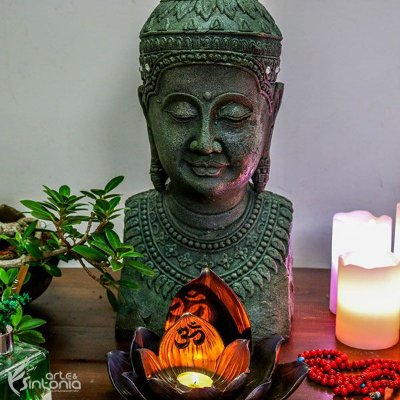 Busto de Buda Rústico 45cm