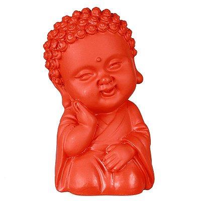 Estátua Monge Budista Laranja
