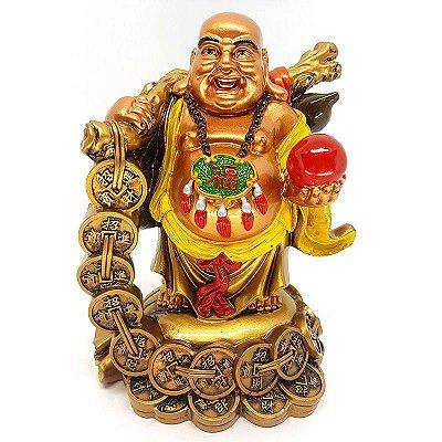 Estátua Buda Prosperidade 18cm
