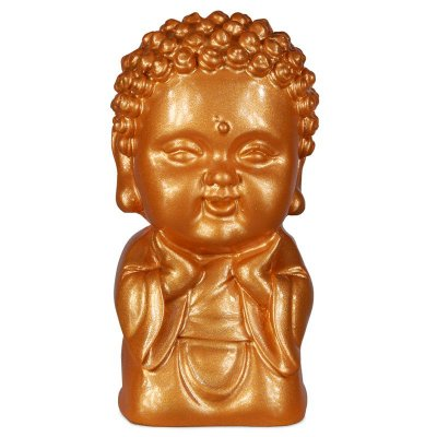 Estátua Monge Budista Gold