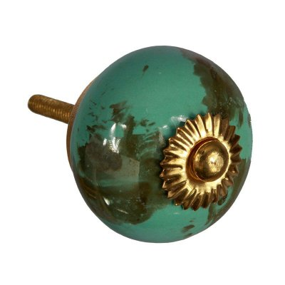 Puxador de Cerâmica  Azul Oceanic
