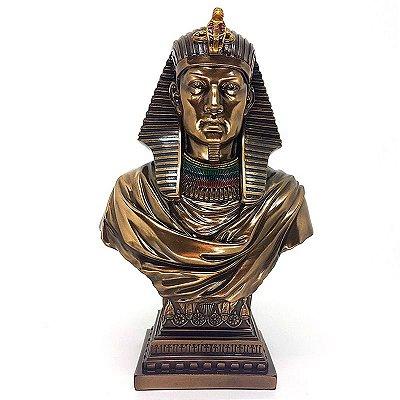 Busto Egípcio Ramsés em Resina