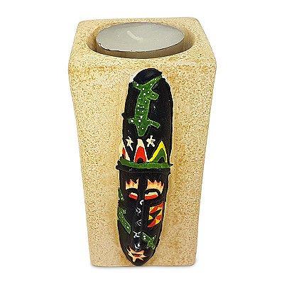 Porta-Vela Máscara Tribal