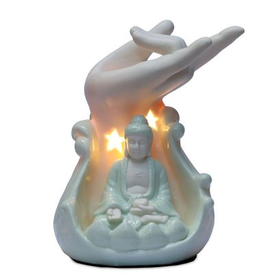 Luminária Porcelana Buda 110v