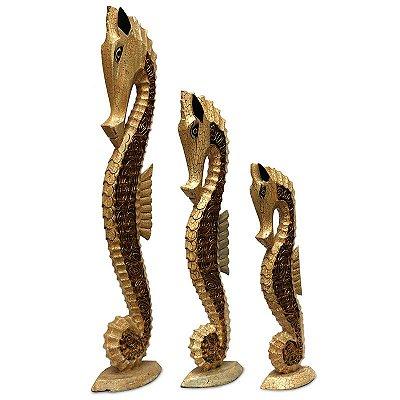 Trio de Cavalos Marinhos 100/80/60cm