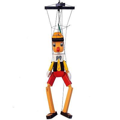 Pinóquio Marionete em Madeira 90cm