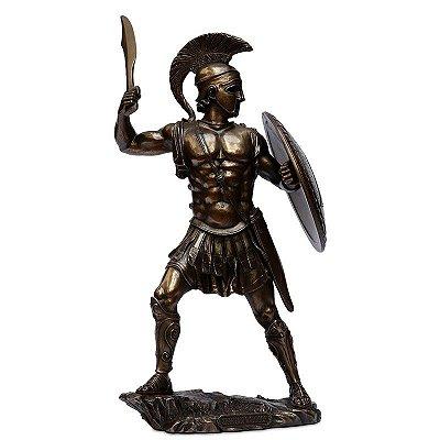 Estátua Guerreiro Espartano 33cm