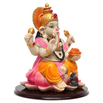 Estátua Colorida Deus Ganesh