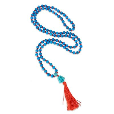 Japamala Howlita Azul 108 Contas