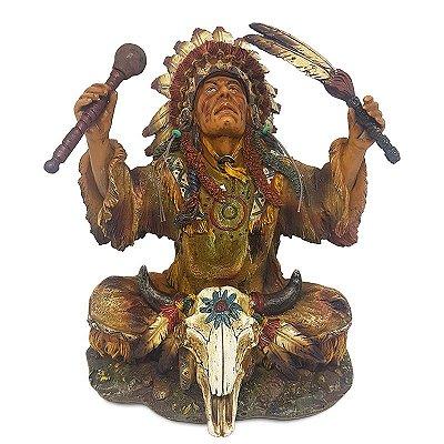 Estátua Índio Sioux em Ritual