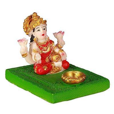 Incensário Colorido Deusa Lakshmi