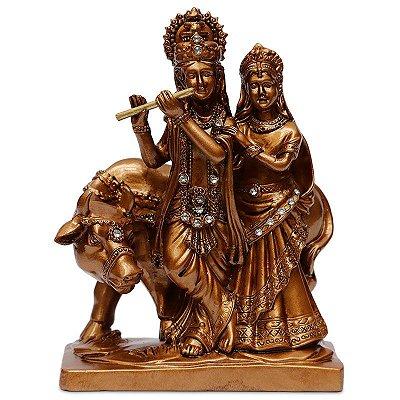 Estátua Hindu Shiva Parvati e Nandi