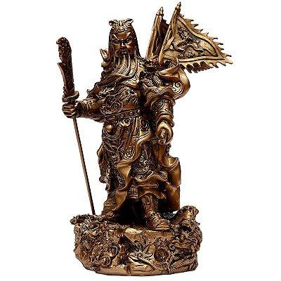 Escultura Guerreiro Chinês Kwan Kung
