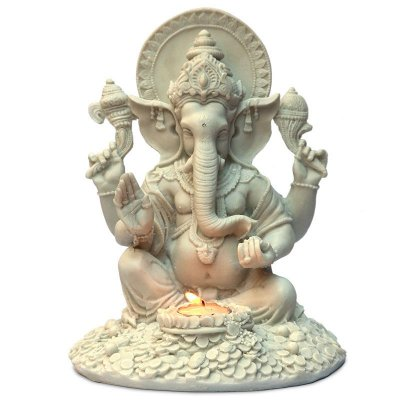 Escultura Deus Ganesh c/ Porta-Vela