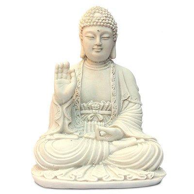 Escultura Buda Zen em Marmorite