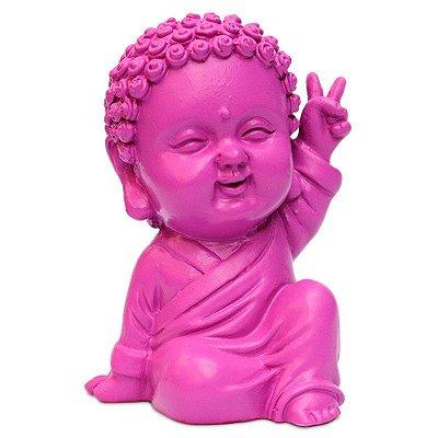 Estátua Monge Budista Paz e Amor