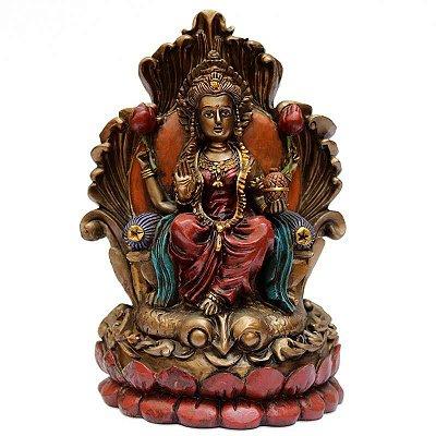 Estátua Deusa Lakshmi no Trono