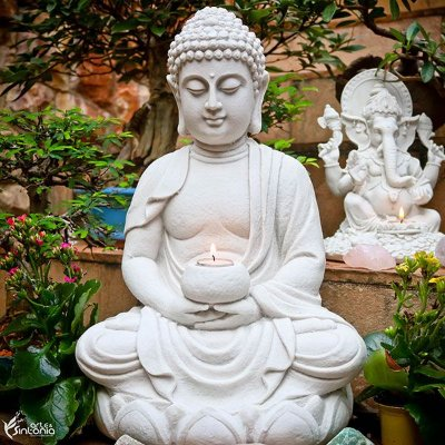 Escultura Buda Meditando 45cm