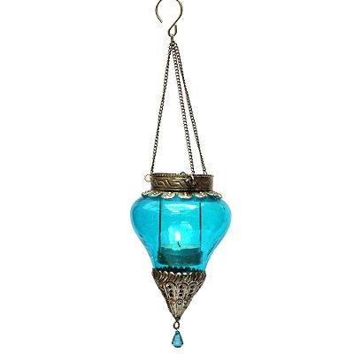 Lanterna Indiana Pendente Azul