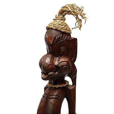 Escultura Primitivo Tribal Bali 55cm