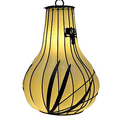 Luminária de Vidro Soprado Branco