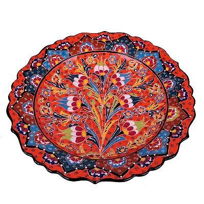 Prato Decorativo Turco em Cerâmica 30cm