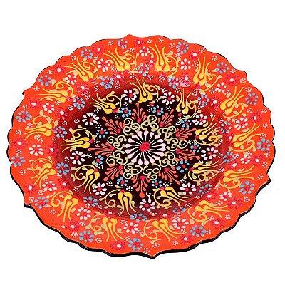 Prato Cerâmica Turca Mandala Sol